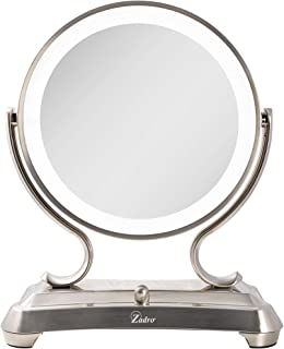 Zadro Products Zadro products surround light dual sided glamour 5x/1x magnification vanity mirror, satin nickel, Satin Nickel