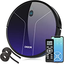 Robot Vacuum, GOOVI by ONSON 2100Pa Robotic Vacuum Cleaner with Mapping&Wi-Fi, 360° Smart Sensor Protection, Self-Charging...