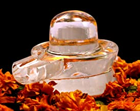 Style OK Natural Crystal Clear Shiva Lingam Sphatik Shivling Puja Purpose Shivling 36 Gram