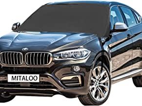 MITALOO Windshield Snow Cover Ice Removal Wiper Visor Protector Auto Sun Shade for Cars Trucks Vans and SUVs Stop Scraping Fits Most Car, SUV, Truck, Van or Automobile with 83