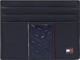 Tommy Hilfiger Leather Stripe Card Case Holder, Blue, AM0AM05663