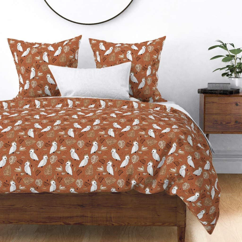Roostery Duvet 67% OFF of Credence fixed price Cover Autumn Fall Jungle Cockatoo Boy Kids Birds