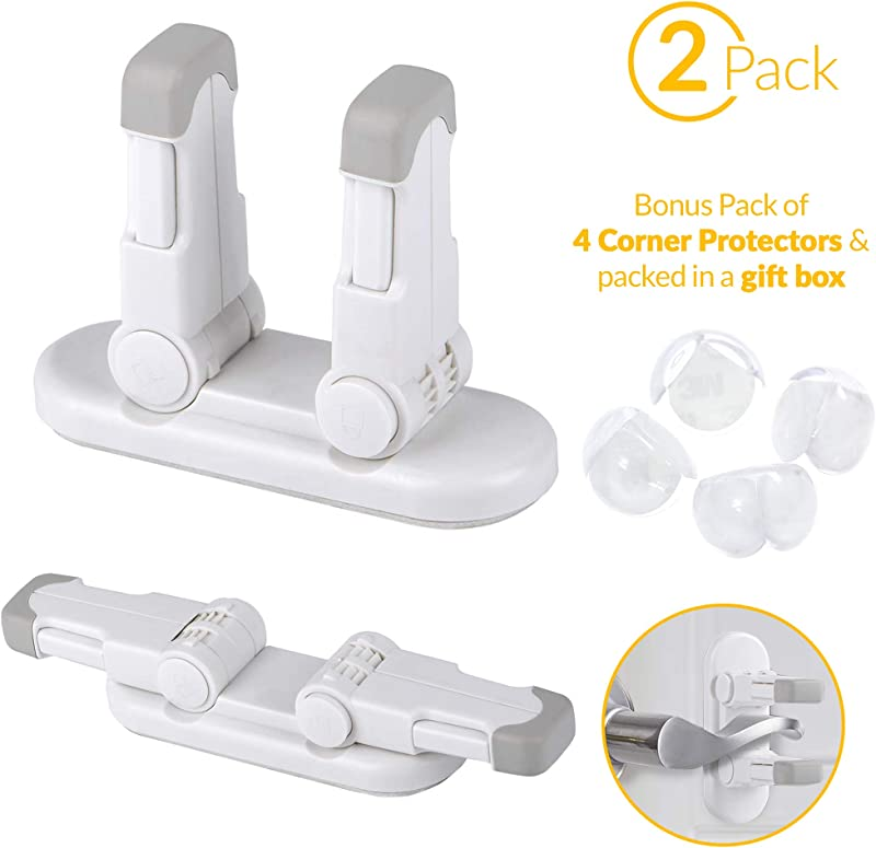 AZb B Baby Proof Lever Lock Door Cabinet Locks For Children Safety Use For Bathroom Toilet Bedroom Kitchen Closet Child Proof Your Home With Ease Lever Locks