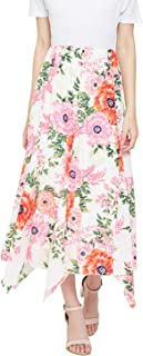 oxolloxo Women's Polyester Floral Skirt (Multicolor)