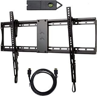 VideoSecu Tilt TV Wall Mount Bracket Kit with Magnetic Stud Finder and HDMI Cable for Most 23-85 Inch TVs LCD OLED with VE...