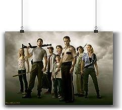 Walking Dead TV Series Poster Small Prints 800-111 Popular TV Show,Wall Art Decor for Dorm Bedroom Living Room (A4|8x12inc...