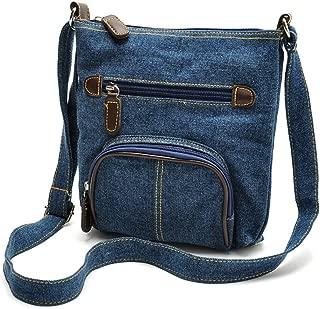 Women Multi Pocket Crossbody Shoulder Bag Small Organizer Purse Wallet