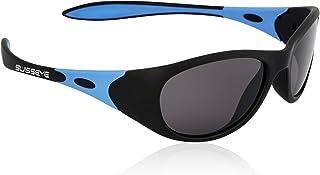 Swiss Eye - Kindersportbrille Toddler, Gafas de sol infantiles. Unisex niños, negro mate/azul