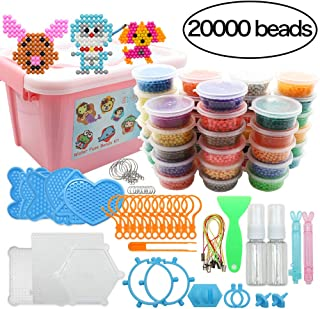 STUHAD Water Fuse Beads Kit 20000 Pieces Magic Water Sticky Beads 40 Colors Water Spray Beads Set Compatible with Art Crafts Toys as Christmas Gifts