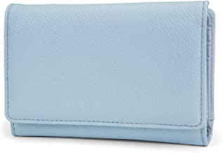 Mundi Small Womens RFID Blocking Wallet Compact Trifold Safe Protection Clutch With Change Purse (Ice Blue)