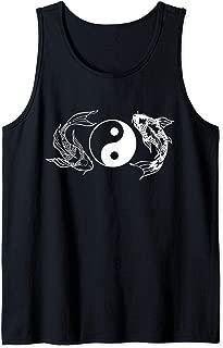 Yin Yang Koi Fish Good Luck and Fortune Harmony Peace Tank Top
