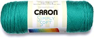 Caron Simply Soft Party Solids Yarn - (4) Medium Worsted Gauge - 6 oz - Cool Green