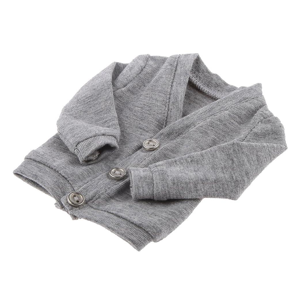 くぼみ額うまくやる()sharprepublic 1/6 BJD人形用 セーター ボタン付き ニット綿製 装飾 アクセサリー 全2サイズ - 1/6