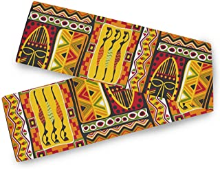 """AUUXVA WXLIFE Table Runners African Women Geometric Print Table Cloth Decorative, 13""""x90"""" Table Runner for Kitchen Holiday..."""