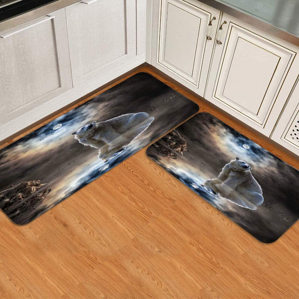 BEIDIDA New mail order Cushioned Large discharge sale Anti-Fatigue Kitchen Water Absorb Rug Non-Slip