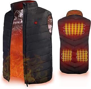 AiBast Verwarmd vest, buiten verwarmd vest, met Ppgraded Plus fluwelen isolatiemateriaal, unieke nekverwarming, snelle ver...