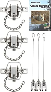 (3 Pack) #2 Duke Coil Spring Square Jaw Offset Trap Value Package - DVD & Trap Stakes Included