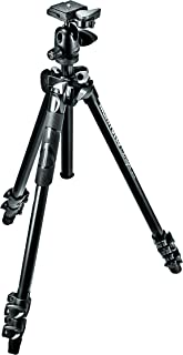 Manfrotto 290 Light Aluminum 3-Section Tripod Kit with Ball Head (MK290LTA3-BHUS)