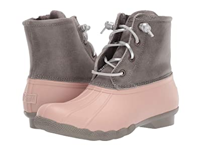 Sperry Saltwater Leather Metallic Lace (Grey/Rose Dust) Women