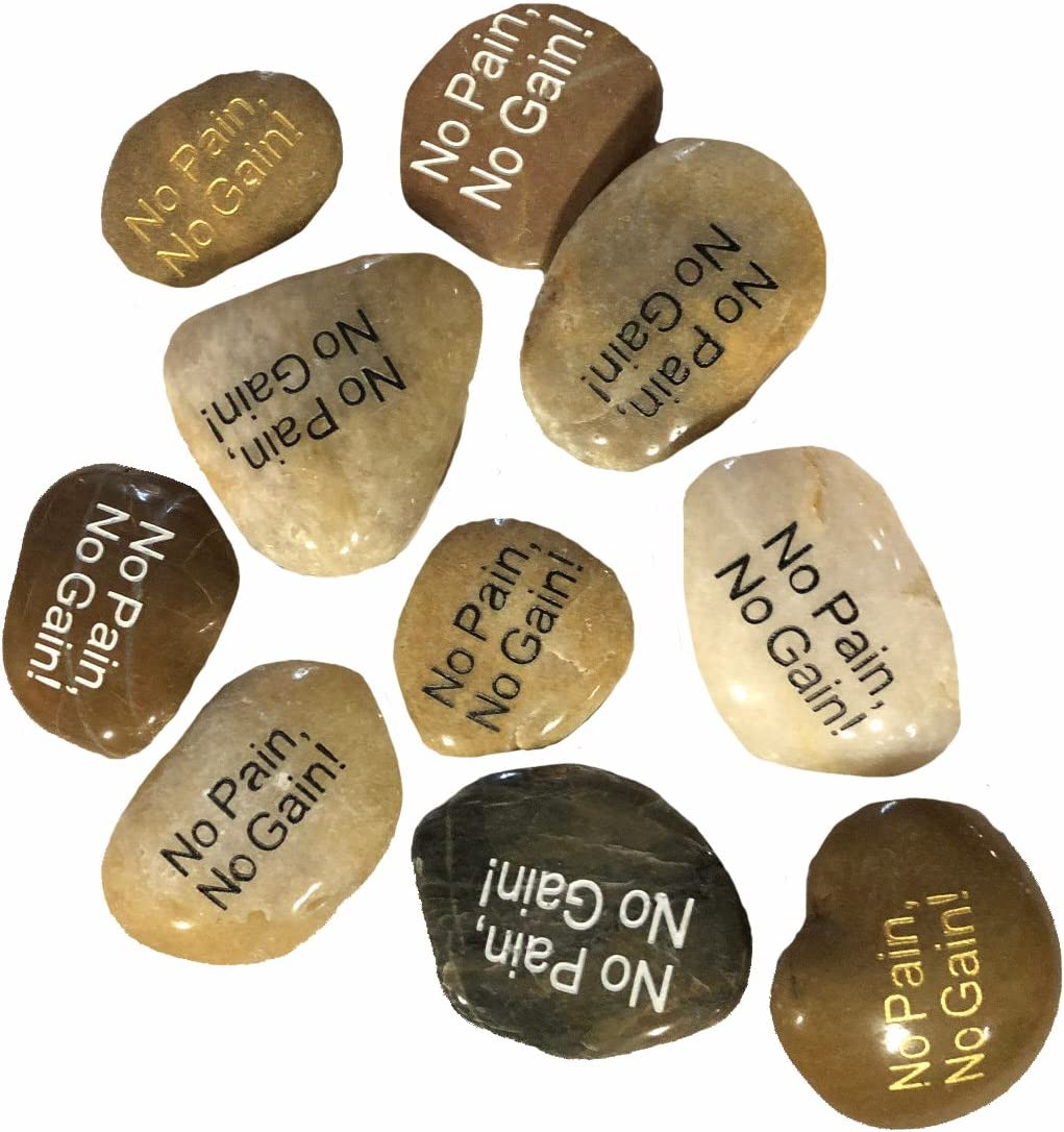 OEN Wholesale Challenge the lowest price Inspirational Word River Etched Ranking TOP6 40 Bulk Lot Stones
