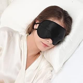 ALASKA BEAR® Natural Silk Sleep mask & Blindfold, Super-Smooth Eye mask (Two Straps, Contoured Cups)
