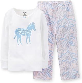 Baby Girls' 2 Piece Pant PJ Set (Baby) - Zebra - 24 Months