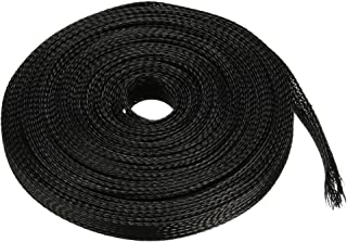 uxcell PET Sleeving 32.8 Feet 10m Expandable Cable Wrap 4mm Diameter Wire Sheath Black