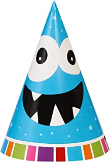 BirthdayExpress Aliens and Monsters Party Supplies - Cone Hats (8)
