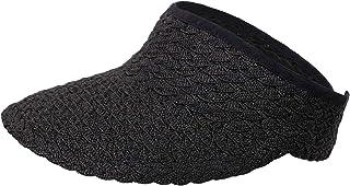 Simplicity Women's Wide Brim Roll-up Foldable Straw Sun Visor Hat