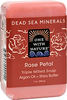 One With Nature Soap Bar Rose Petal
