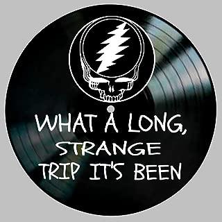 Truckin' Song Lyric Art Inspired by Grateful Dead Vinyl Record Album Wall Decor
