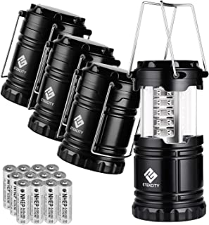 Etekcity 4 Pack LED Camping Lantern Portable Flashlight...