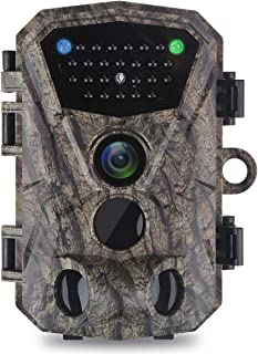 UNIONDA Trail Game Camera 14MP 1080P Waterproof Hunting Scouting Cam for Wildlife Monitoring with 120°Detecting Range Motion Activated Night Vision 2.4