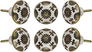 Set of 6 Ceramic Tunis Drawer Knobs Kitchen Cabin