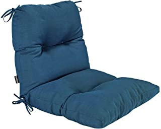 BOSSIMA Outdoor Indoor High Back Chair Tufted Cushions Comfort Replacement Patio Seating Cushions Teal Blue