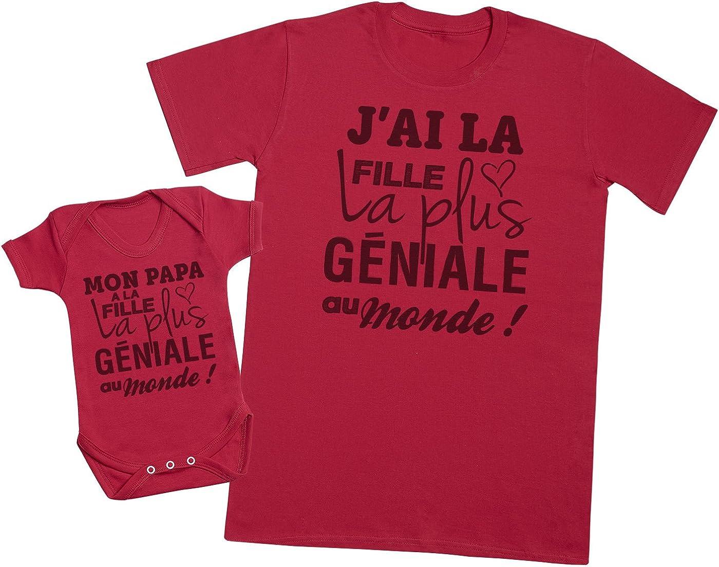 Zarlivia Clothing Cest Que Le Papa? Ensemble P/ère B/éb/é Cadeau Hommes T-Shirt /& Body b/éb/é