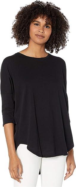 3/4 Sleeve Drop Shoulder Top in Lightweight Jersey