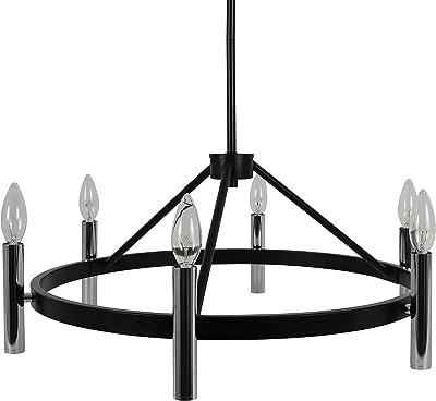 Decor Therapy CH1942 Marcelo Light, 14w 14d 70h, Black Chrome