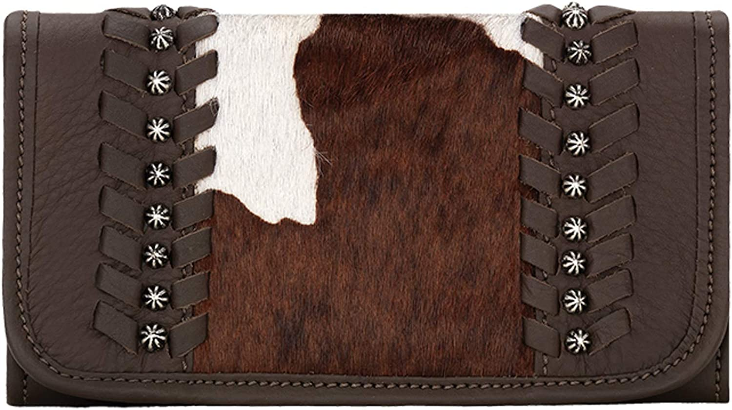American West lowest price Women's Cow Town Pony Chocolate Hair Wall Tri-Fold overseas