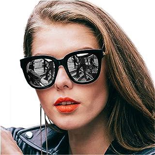 b77d2dad30 SIPHEW Gafas de Sol Mujer/Hombre Grandes, Gafas de sol de Moda Eliminar  Reflejos