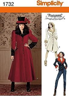 Simplicity 1732 Misses' Costume Coat R5 (14-16-18-20-22)