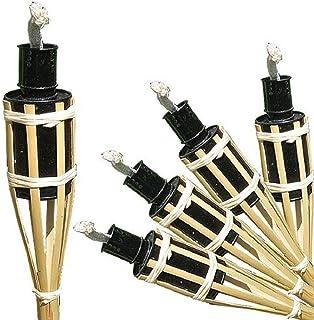 16 antorchas de bambú para aceite y para jard&