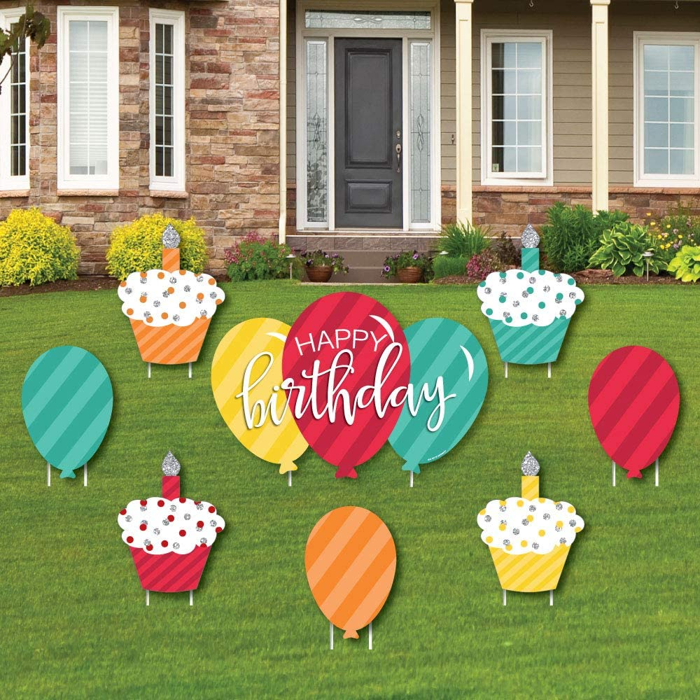 Big Dot of Happiness Super Special Campaign intense SALE Colorful Happy Ballo - Cupcake Birthday and