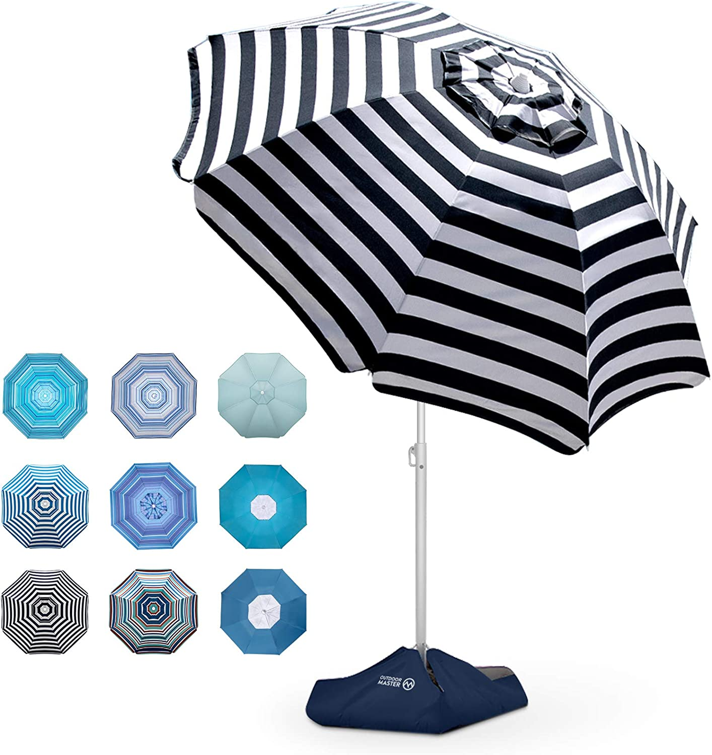 OutdoorMaster Factory outlet Beach Umbrella with Sand 6.5ft Bag Umbrell Great interest -