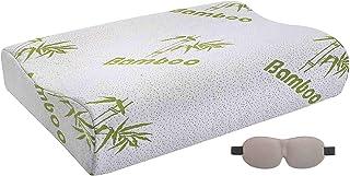 Almohada Viscoelastica memory Foam Fitem ® - Almohada Cervical y Ergonómico - Ortopédica - Terapéutico - 60 x 40 x 10/12 cm - Alivia Dolores Cervicales - Funda Higienica de Bambú (40%)