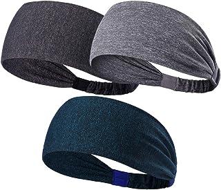 980f866301cc16 HANERDUN Sport Stirnband Damen Schweißbänder Kopf Stirn Baumwolle Haarband  Kopfband für Laufen Fahrrad Joggen Tennis Yoga