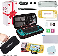 $27 Get Complete Starter Kit for Nintendo Switch Lite with Tempered Glass Screen Protector, Travel Case, Foldable Stand, and more