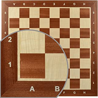 Wegiel Handmade Wooden 18.9 Inch Mahogany & Sycamore European Professional Tournament Chess Board