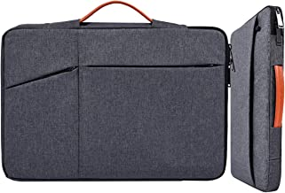 14 15 Inch Water-Resistant Laptop Briefcase Sleeve with Handle for Men Women for Acer Chromebook 14, Dell XPS 15 9550 9560, HP Pavilion X360 14, Lenovo Yoga 910/920/C930 Chromebook Carring Bag, Gray