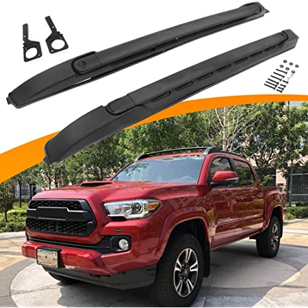 snailauto black roof rack cross bars set fit for 2005 2020 toyota tacoma double cab luggage carrier